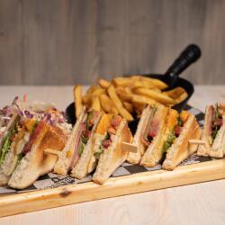 Moondogs Bar Grill Club Sandwich